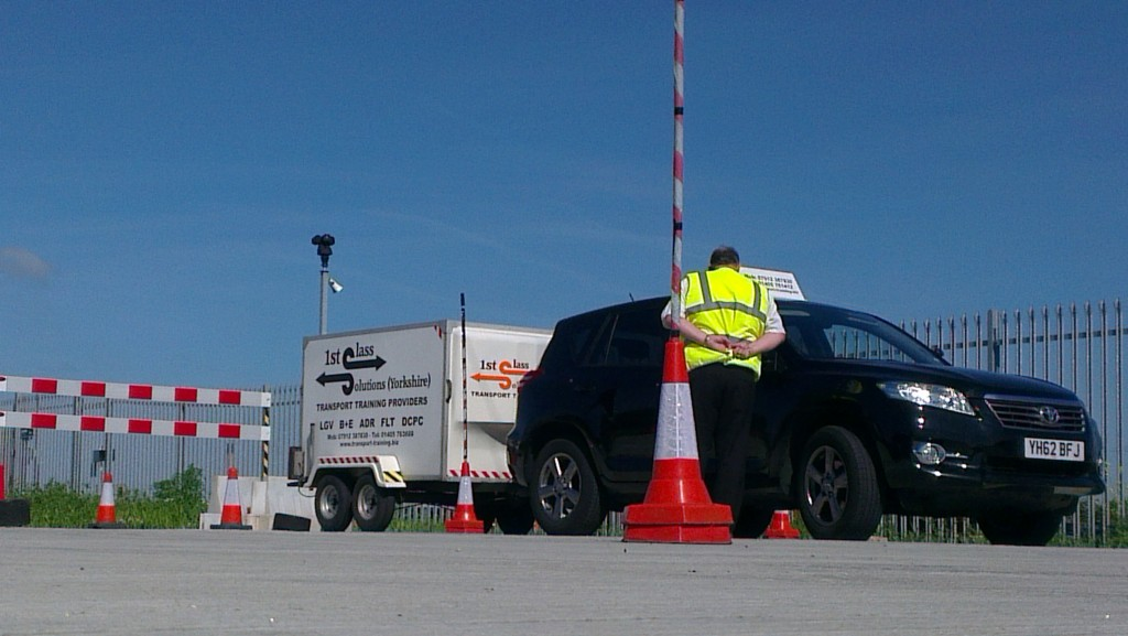 DVSA test centre car and trailer test centre B+E driving licence Trailer licence