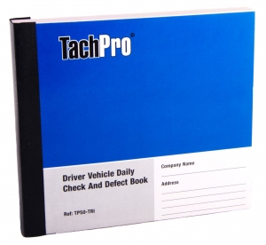 Daily Defect Book, Driver Vehicle Daily Check Defect Report Book, Tachpro defect book, vehicle defect report book, defect book