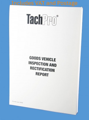 goods vehicle inspection maintenance report pad, goods vehicle inspection report, vehicle inspection sheet, HGV Insepction Report Sheet